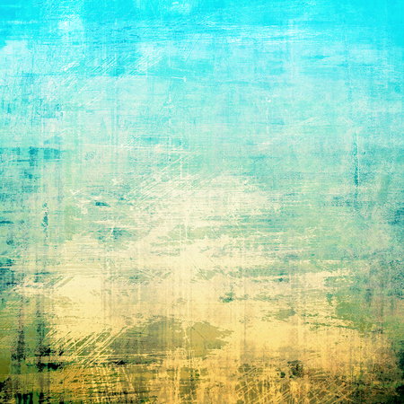 jagged: Creative vintage grunge texture or ragged old background for art projects. With different color patterns: yellow (beige); brown; green; blue; cyan; white Stock Photo