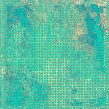 obscure: Aged background or texture. Vintage graphic composition with grunge style elements and different color patterns: yellow (beige); gray; blue; cyan