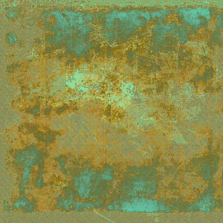 eroded: Vintage style shabby texture or background with classy grungy elements and different color patterns: yellow (beige); brown; gray; green; blue; cyan