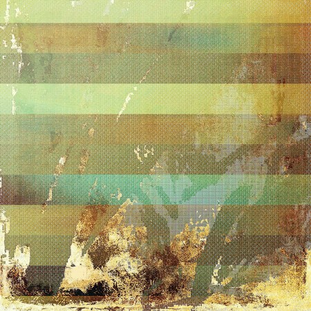 eroded: Grunge abstract textured background, aged backdrop with different color patterns: yellow (beige); brown; gray; green; blue; cyan