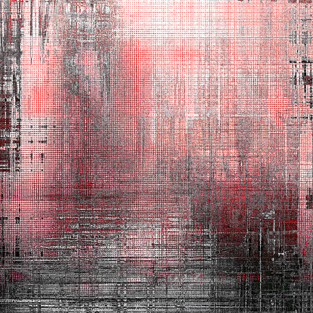 smudged: Old grunge vintage background or shabby texture with different color patterns: gray; red (orange); pink; black; white Stock Photo