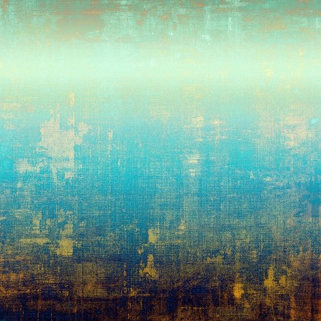 obscure: Aged textured background, macro closeup with different color patterns: yellow (beige); brown; blue; cyan