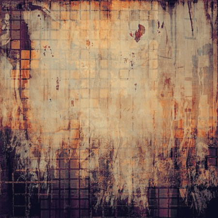 violet red: Vintage style designed background, scratched grungy texture with different color patterns: yellow (beige); brown; gray; red (orange); purple (violet); black