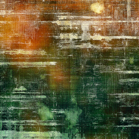 classic contrast: Vintage texture, old style frame decoration with grunge graphic elements and different color patterns: yellow (beige); brown; green; gray; red (orange)