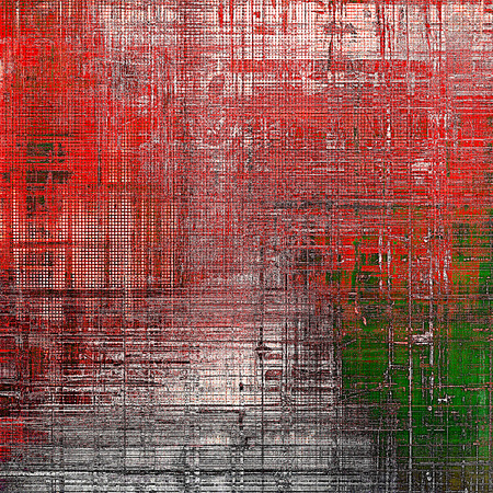 patched: Art grunge background, vintage style textured frame. With different color patterns: green; gray; red (orange); pink; white