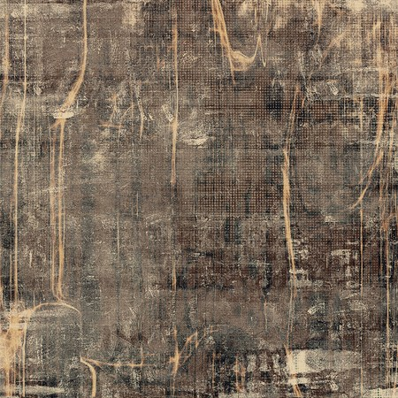 exceptional: Highly detailed scratched texture, aged grungy background. Vintage style composition with different color patterns: yellow (beige); brown; gray; black Stock Photo