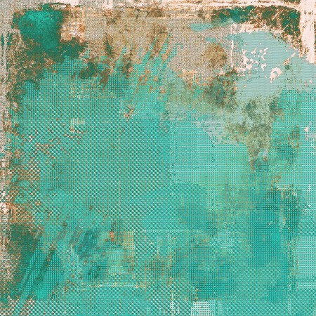blemish: Old grunge vintage background or shabby texture with different color patterns: yellow (beige); brown; green; blue; gray; cyan