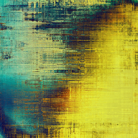 vintage look: Antique texture, weathered background with vintage look and different color patterns: yellow (beige); brown; blue; cyan