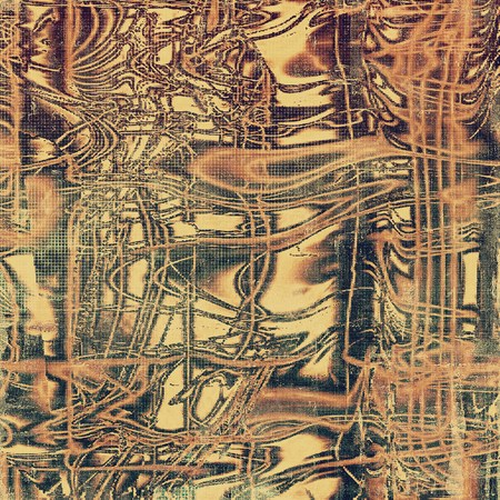 grime: Vintage torn texture or stylish grunge background with ancient design elements and different color patterns: yellow (beige); brown; gray; red (orange); black