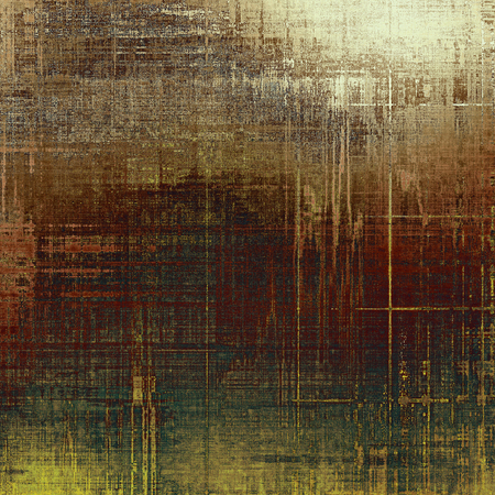 intensity: Abstract vintage background with faded grungy texture. Aged backdrop with different color patterns: yellow (beige); brown; green; gray