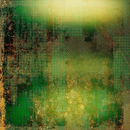obscure: Vintage old retro background with ancient style design elements and different color patterns: yellow (beige); brown; green; black
