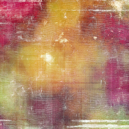 corrosion: Old grunge vintage background or shabby texture with different color patterns: yellow (beige); red (orange); purple (violet); green; gray; pink