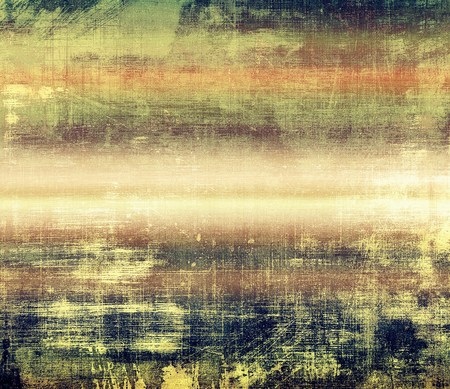 antique background: Grunge vintage template or antique background with different color patterns: yellow (beige); brown; red (orange); green; gray; blue Stock Photo