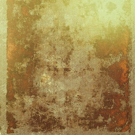 corrosion: Old school frame or background with grungy textured elements and different color patterns: yellow (beige); brown; green; gray; red (orange) Stock Photo