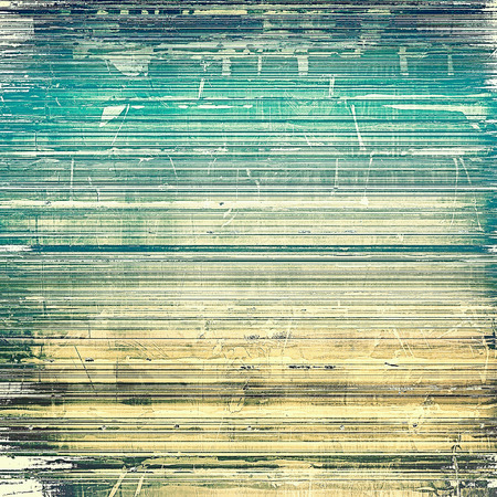 painted the cover illustration: Retro texture used as abstract grunge background. Shabby backdrop with different color patterns: yellow (beige); brown; green; blue; gray; cyan