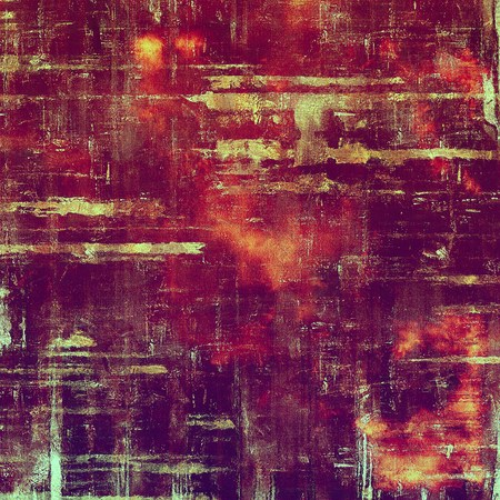crosshatching: Grunge retro composition, textured vintage background. With different color patterns: yellow (beige); brown; red (orange); purple (violet); pink