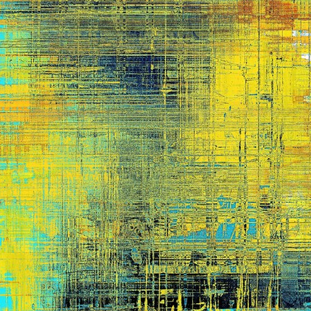 crosshatching: Old grunge vintage background or shabby texture with different color patterns: yellow (beige); brown; blue; red (orange); cyan