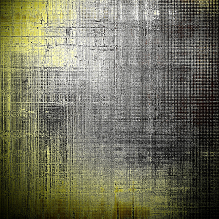dull: Vintage template or background with grungy texture, antique decor and different color patterns: yellow (beige); brown; gray; black