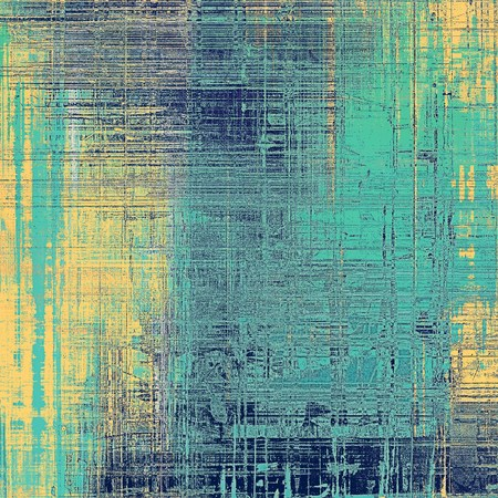 obsolete: Oldest vintage background in grunge style. Ancient texture with different color patterns: yellow (beige); blue; gray; cyan