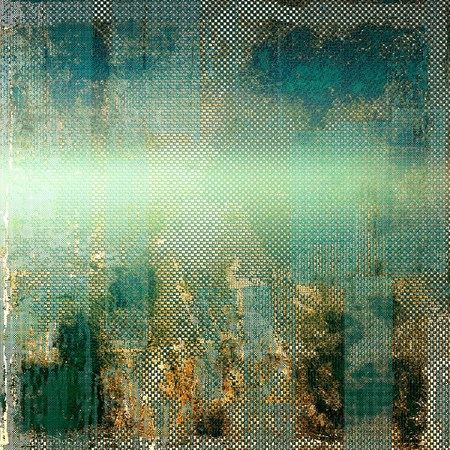 shadowy: Vintage background in scrap-booking style, faded grunge texture with different color patterns: yellow (beige); brown; green; blue; gray; cyan