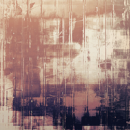 grime: Old background with grunge decorative elements. Retro composition for your design. With different color patterns: yellow (beige); brown; gray; purple (violet); pink