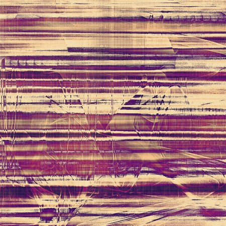 crosshatch: Grunge abstract textured background, aged backdrop with different color patterns: yellow (beige); brown; gray; purple (violet); pink Stock Photo