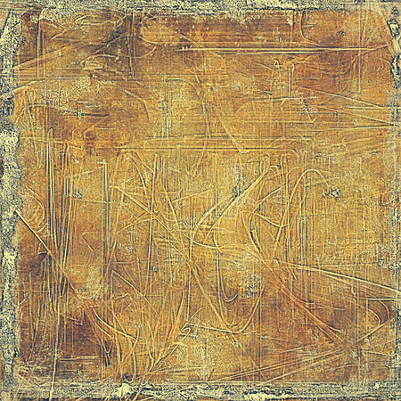 obscure: Aged vintage background with weathered texture, grunge design elements and different color patterns: yellow (beige); brown; gray