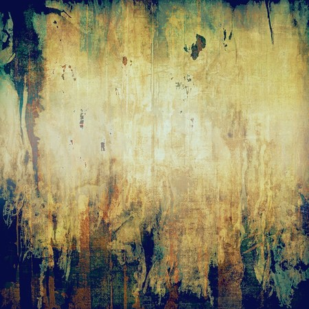 school aged: Old school aged texture or background for retro grunge design. With different color patterns: yellow (beige); brown; gray; green; blue