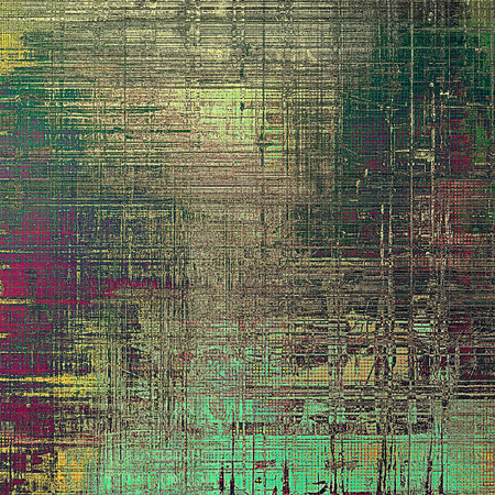gray thread: Old school background or texture with vintage style grunge elements and different color patterns: yellow (beige); brown; gray; green; purple (violet); cyan