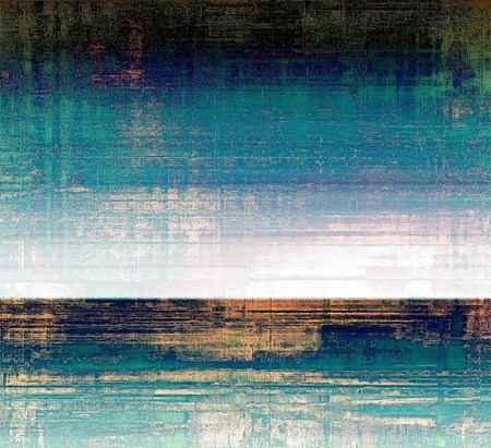 green brown: Grunge abstract textured background, aged backdrop with different color patterns: brown; green; blue; cyan; white; black