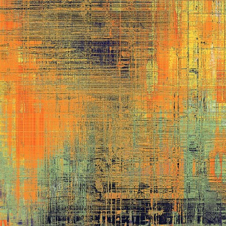 crosshatched: Grunge background for a creative vintage style poster. With different color patterns: yellow (beige); brown; blue; red (orange); gray