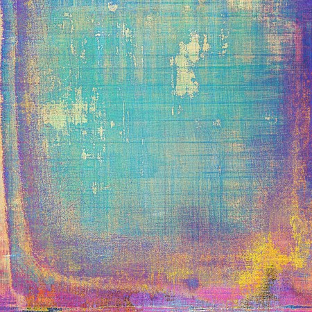 crosshatching: Old-style dirty background with textured vintage elements and different color patterns: yellow (beige); green; blue; red (orange); purple (violet); pink Stock Photo