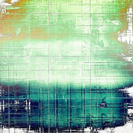 corrosion: Art grunge background or vintage style texture with retro graphic elements and different color patterns: brown; green; blue; cyan; white