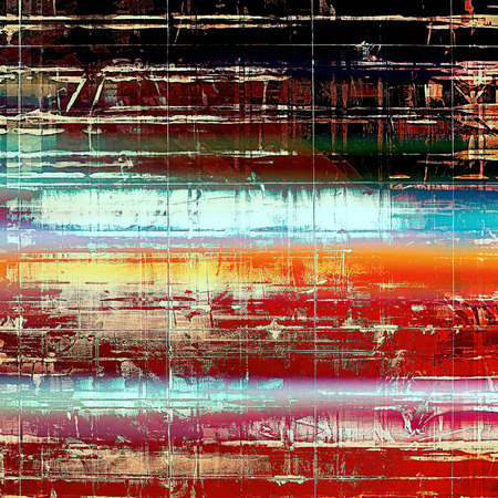 crosshatching: Old school background or texture with vintage style grunge elements and different color patterns: yellow (beige); blue; red (orange); white; black; pink Stock Photo