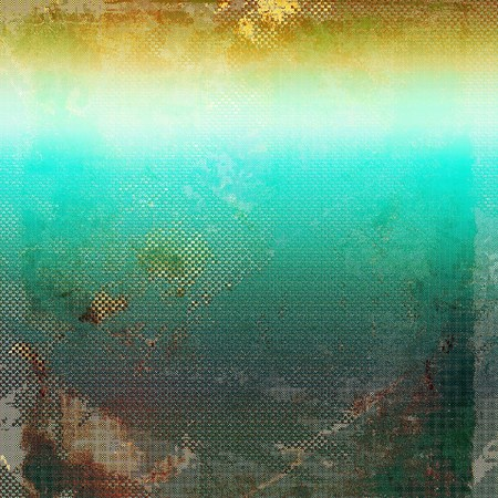 shadowy: Abstract vintage background with faded grungy texture. Aged backdrop with different color patterns: yellow (beige); brown; green; blue; gray; cyan