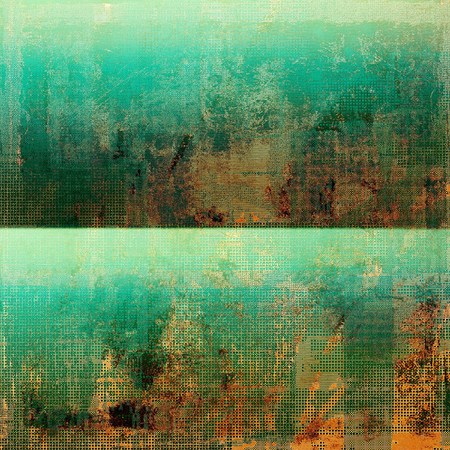 crosshatching: Colorful grunge texture or background with vintage style elements and different color patterns: yellow (beige); brown; green; blue; red (orange); cyan