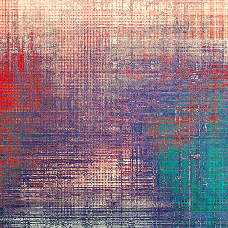 obscure: Vintage ancient background or texture with grunge decor elements and different color patterns: green; blue; red (orange); purple (violet); cyan; pink