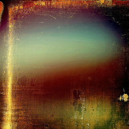 eroded: Vintage torn texture or stylish grunge background with ancient design elements and different color patterns: yellow (beige); brown; green; blue; red (orange); black