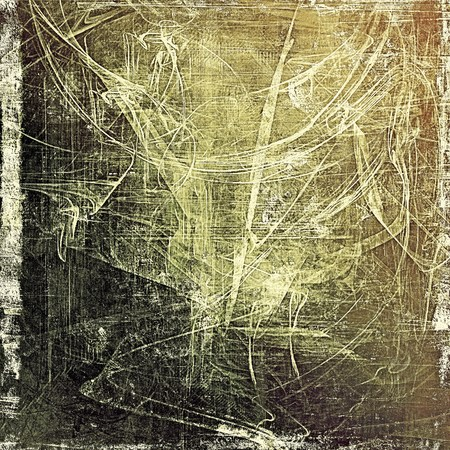 degraded: Scratched vintage texture, grunge style frame or background. With different color patterns: yellow (beige); brown; gray; black