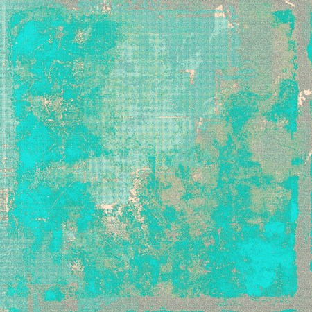 obsolete: Glamour vintage frame, decorative grunge background. Aged texture with different color patterns: brown; blue; gray; cyan Stock Photo
