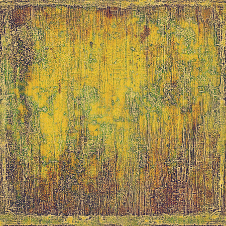 dull: Elegant vintage background, grunge design template. Ancient texture with different color patterns: yellow (beige); brown; green; red (orange); gray