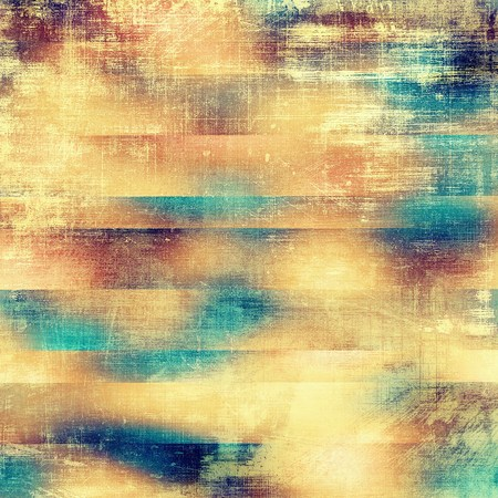 eroded: Decorative vintage texture or creative grunge background with different color patterns: yellow (beige); brown; blue; red (orange); pink; cyan