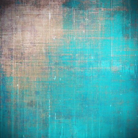 crosshatching: Aged background or texture. Vintage graphic composition with grunge style elements and different color patterns: yellow (beige); brown; blue; gray; cyan