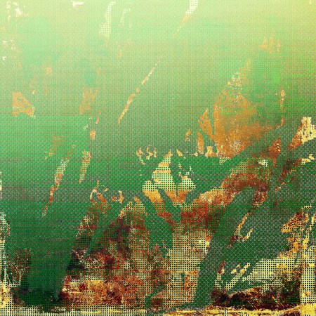 eroded: Glamour vintage frame, decorative grunge background. Aged texture with different color patterns: yellow (beige); brown; green; red (orange) Stock Photo