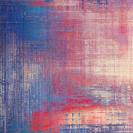 violet red: Old school background or texture with vintage style grunge elements and different color patterns: yellow (beige); blue; red (orange); purple (violet); pink Stock Photo
