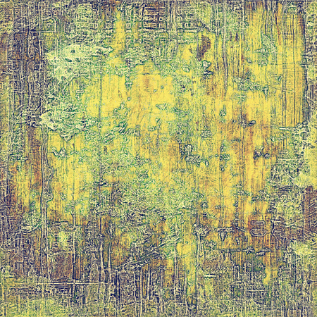 crosshatching: Abstract vintage background with grunge effects, ragged elements, and different color patterns: yellow (beige); brown; green; gray