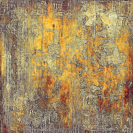 eroded: Scratched background with retro style overlay. Aged texture with different color patterns: yellow (beige); brown; red (orange); gray