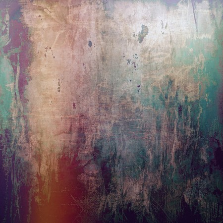 saturated color: Damaged retro texture with grunge style elements and different color patterns: brown; green; red (orange); gray; purple (violet); pink