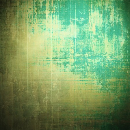 distressed texture: Distressed texture with ragged grunge overlay. Wrinkled background or backdrop with different color patterns: yellow (beige); brown; green; blue; gray; cyan