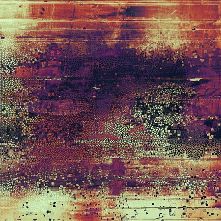eroded: Abstract colorful background or backdrop with grunge texture and different color patterns: yellow (beige); brown; red (orange); purple (violet); pink